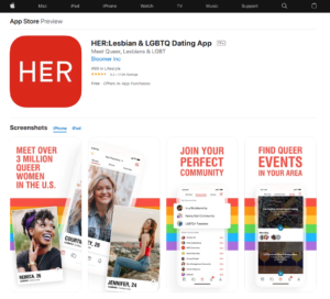 weareher rating by app store