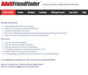 AdultFriendFinder support