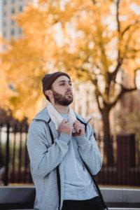 guy in the park