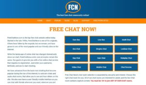FreeChatNow main page
